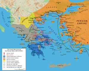 "Map: Bibi Saint-Pol. ""Map Greco-Persian Wars."" Map. Wikipedia. Captain Blood, 27 Feb. 2007. Web. 11 Feb. 2014."