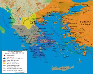 "Map: Bibi Saint-Pol. ""Map Greco-Persian Wars."" Map. Wikipedia. Captain Blood, 27 Feb. 2007. Web. 11 Feb. 2014."