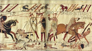 Figure 1: Panel 71 of the Bayeux Tapestry