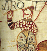 Figure 2: Possibly King Harold pulling an arrow out of his eye