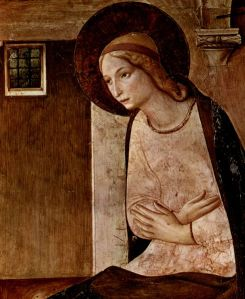 The Virgin Mary. 1437-1446. http://en.wikipedia.org/wiki/File:Fra_Angelico_046.jpg