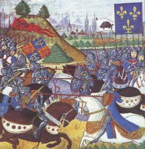 Battle of Patay. Note that the English did not actually fight with horses. http://en.wikipedia.org/wiki/File:Patay.JPG