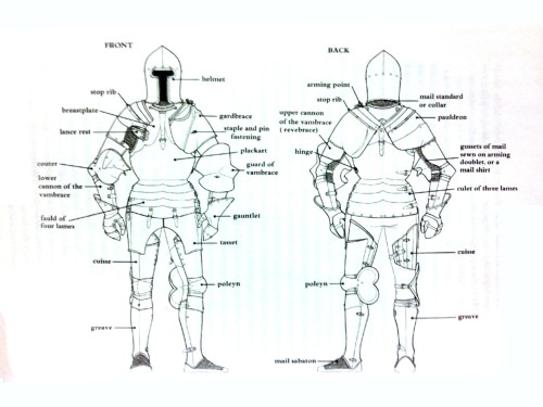 Chart of plate armor