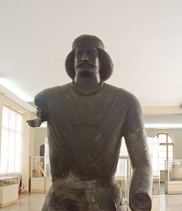 Bronze statue believed to be Surena. Retrieved from http://en.wikipedia.org/wiki/File:Arm_less_man_edit_3.jpg