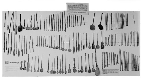 M0000362 Greek and Roman surgical instruments, Museum object Credit: Wellcome Library, London. Wellcome Images images@wellcome.ac.uk http://wellcomeimages.org Greek and Roman surgical instruments from the Wellcome Historical Medical Museum Published: - Copyrighted work available under Creative Commons Attribution only licence CC BY 4.0 http://creativecommons.org/licenses/by/4.0/